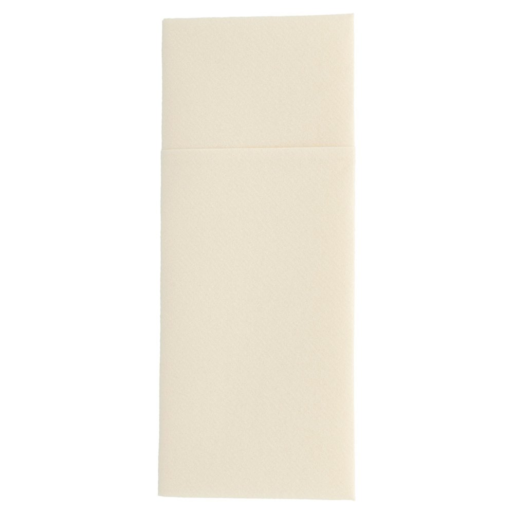 Serviette-étui pour couverts intissé ivoire 33x40cm - par 700
