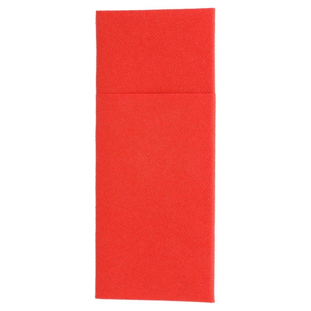 Serviette-étui pour couverts intissé rouge 33x40cm - par 700