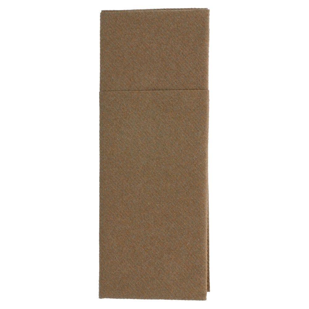 Serviette-étui pour couverts intissé chocolat 33x40cm - par 700