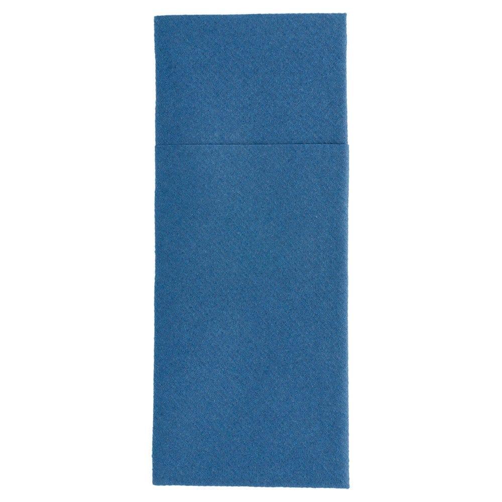 Serviette-étui pour couverts intissé bleu marine 33x40cm - par 700