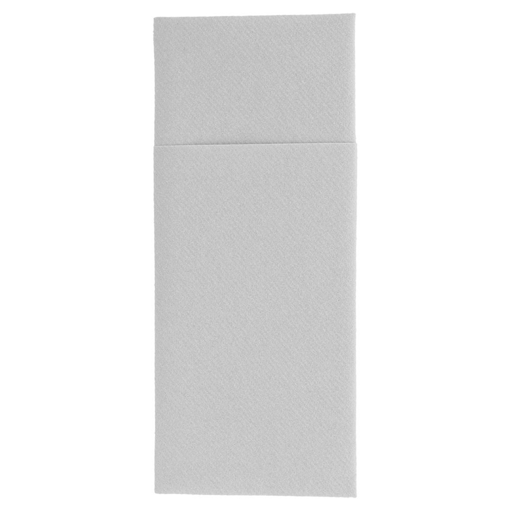 Serviette-étui pour couverts intissé gris 33x40cm - par 700