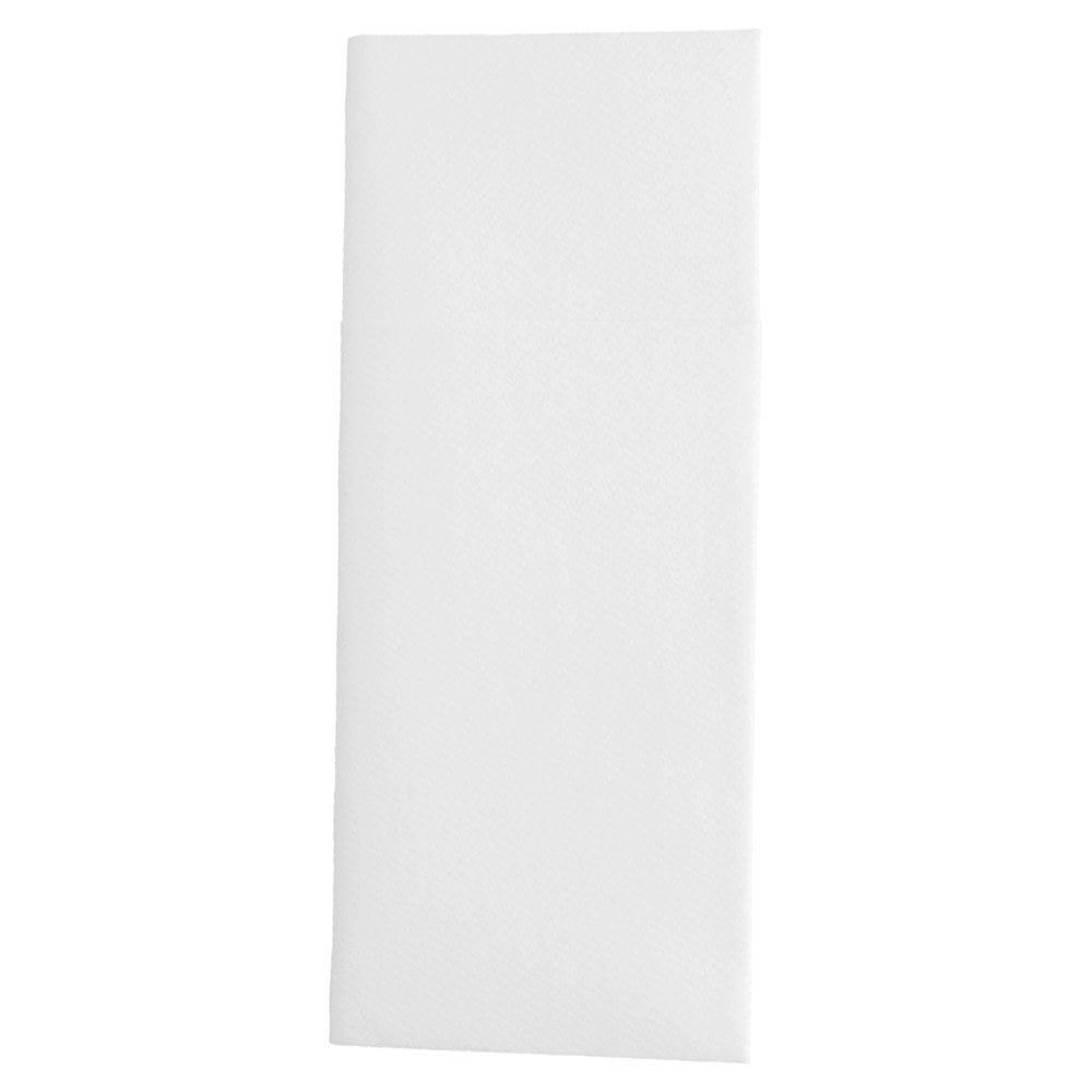 Serviette-étui pour couverts intissé blanc 33x40cm - par 700