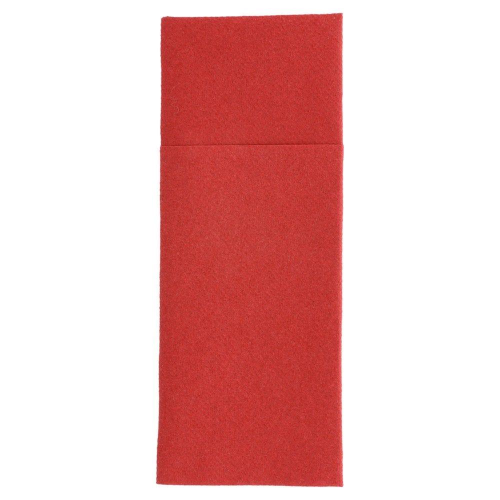 Serviette-étui pour couverts intissé bordeaux 33x40cm - par 700
