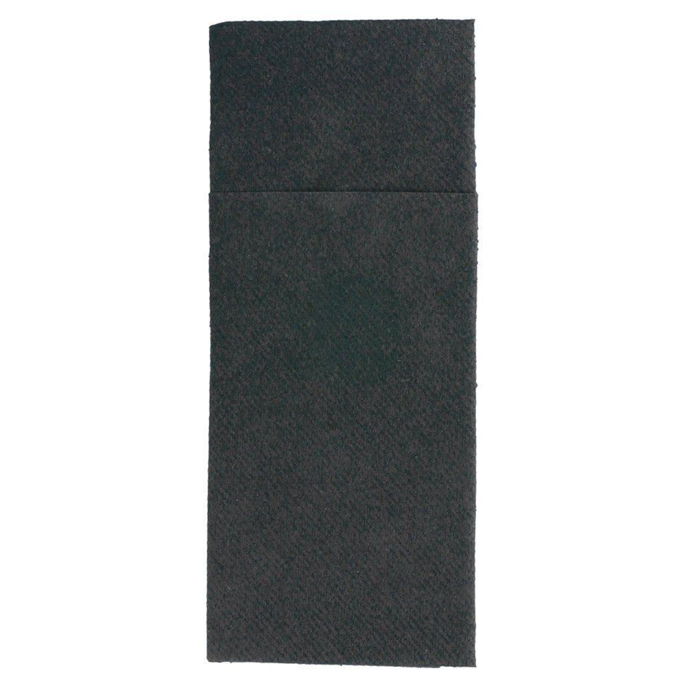 Serviette-étui pour couverts intissé noir 33x40cm - par 700