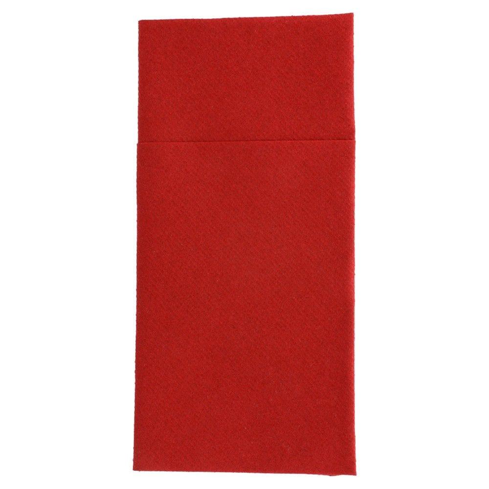 Serviette-étui pour couverts intissé bordeaux 40x40cm - par 700