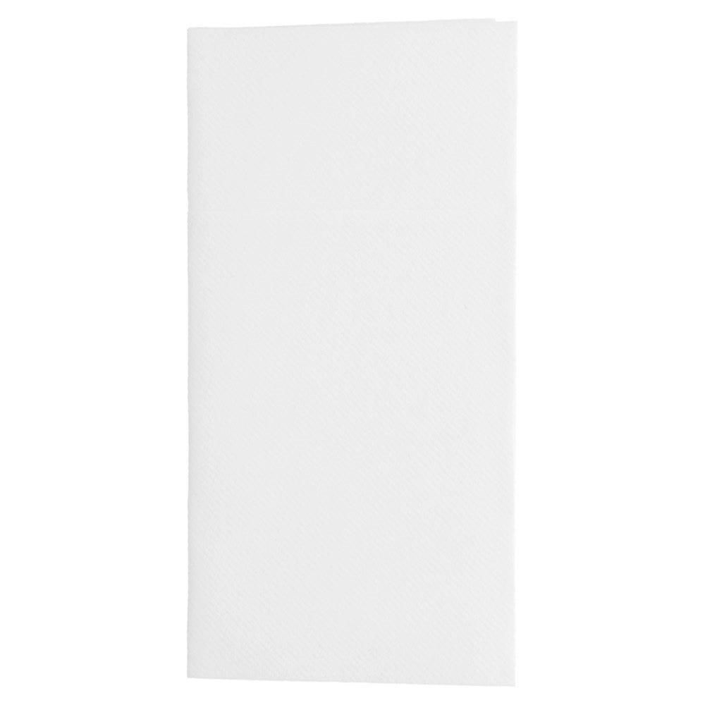 Serviette-étui pour couverts intissé blanc 40x40cm - par 700