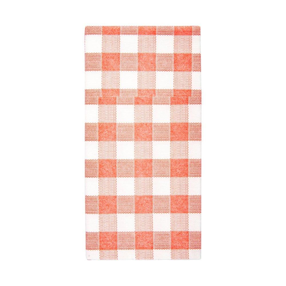 Serviette-étui pour couverts intissé Vichy rouge 40x40cm - par 700