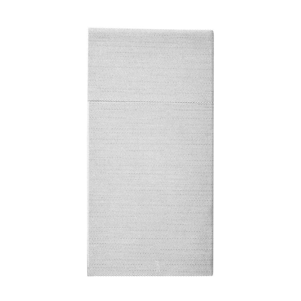 Serviette-étui pour couverts effet tissu gris 40x40cm - par 700