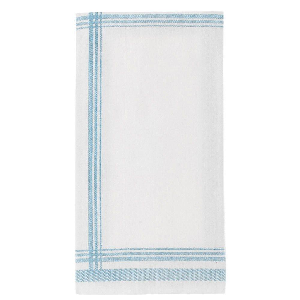 Serviette intissé tissu motif tradition bleu 45x45cm - par 600