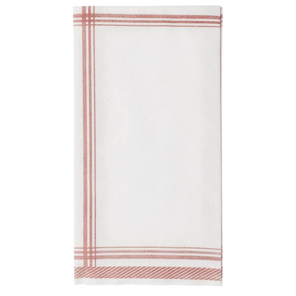 Serviette intissé tissu motif tradition bordeaux 45x45cm - par 600