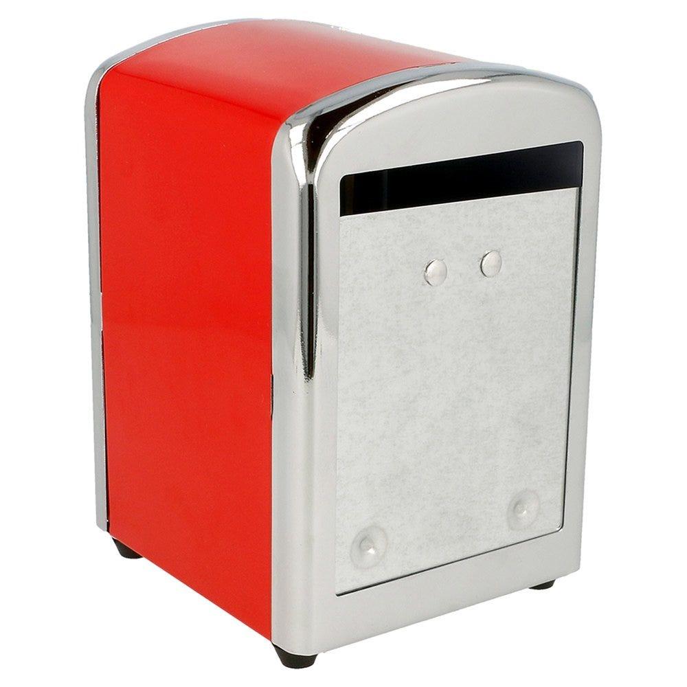 Distributeur 250 serviettes Mini servis inox rouge 10,5x9,7x14cm - par 12