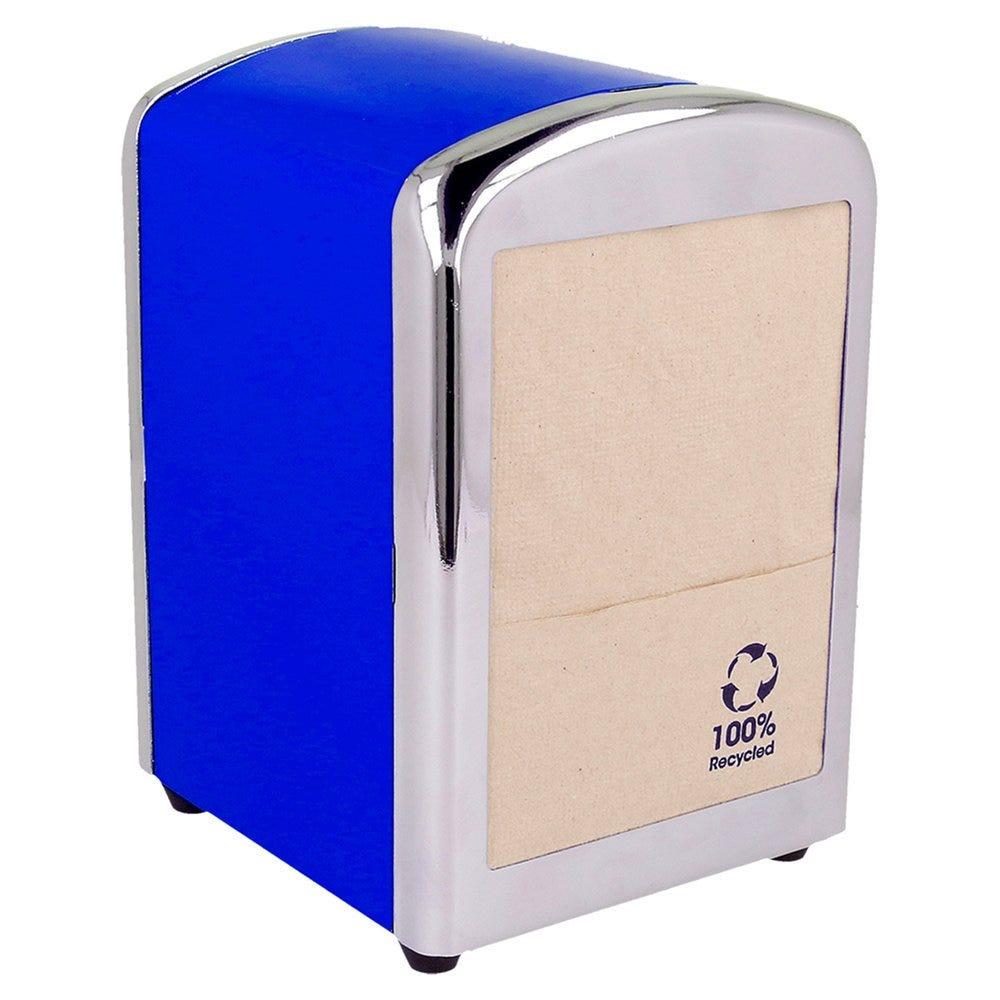 Distributeur 250 serviettes Mini servis inox bleu 10,5x9,7x14cm - par 12