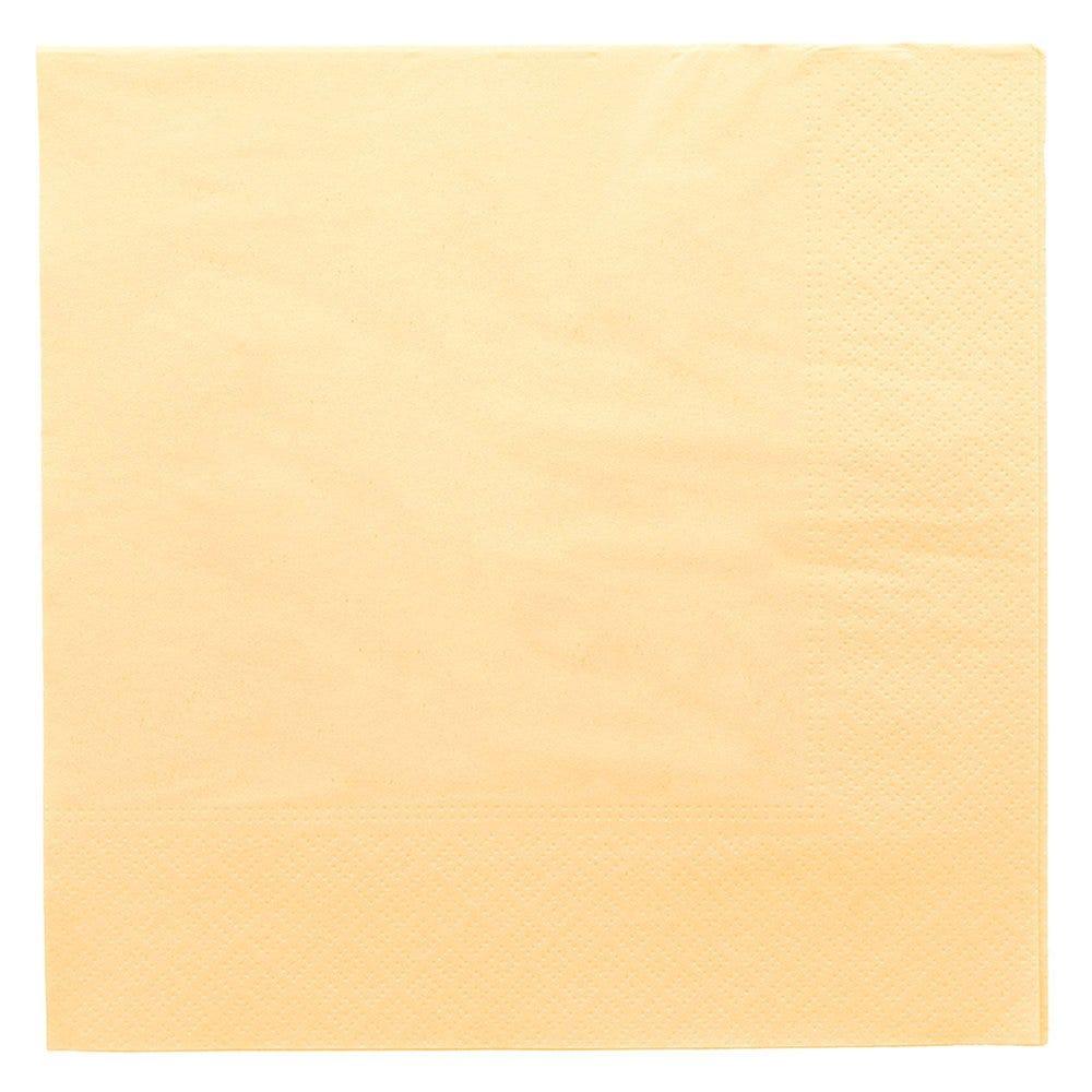 Serviette ouate 2 plis avec bord en relief ivoire 39x39cm - par 1600
