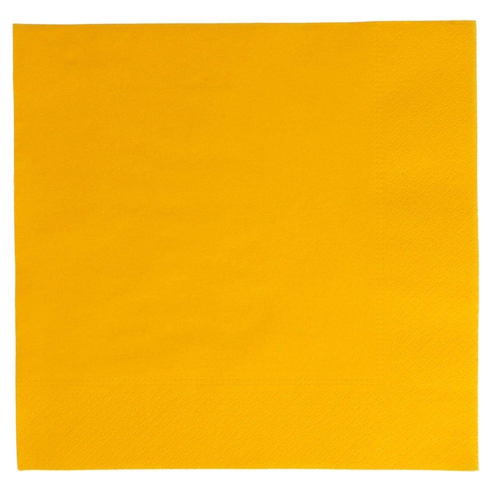 Serviette ouate 2 plis jaune avec bord en relief 39x39cm - par 1600
