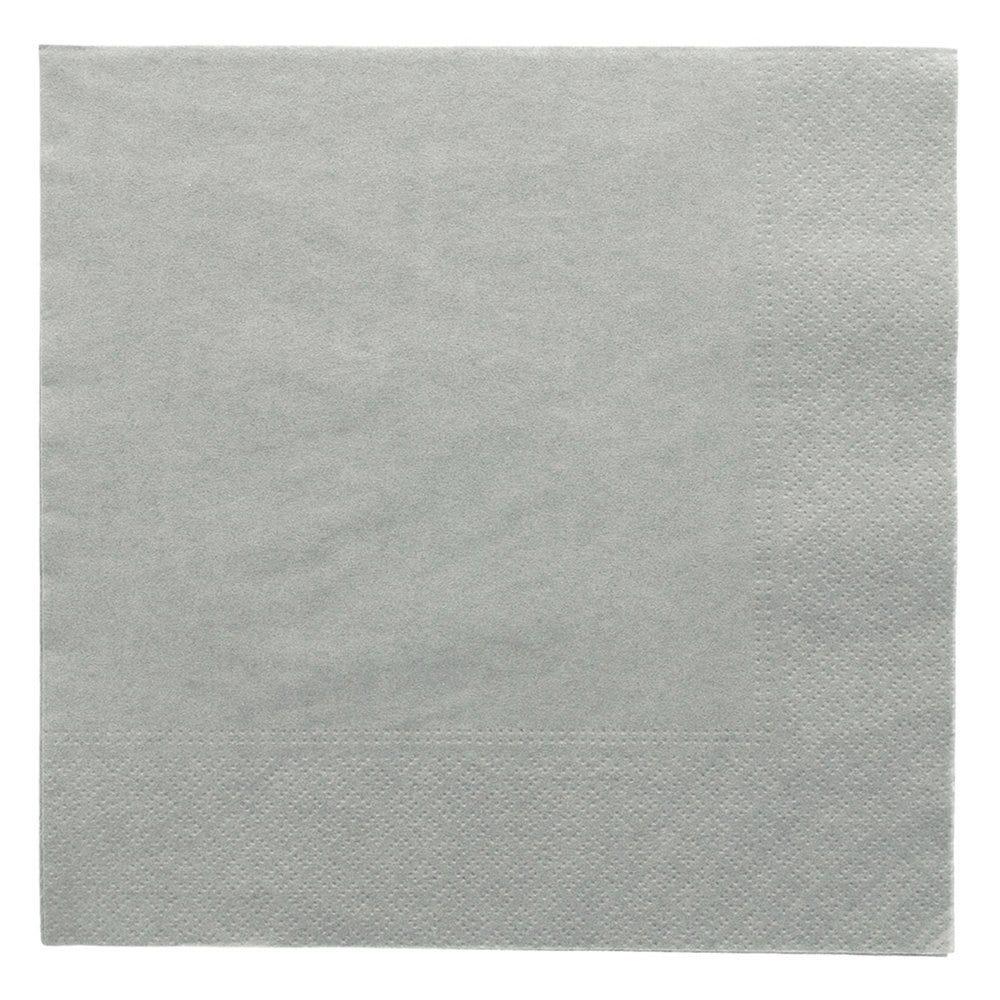 Serviette ouate 2 plis gris avec bord en relief 39x39cm - par 1600