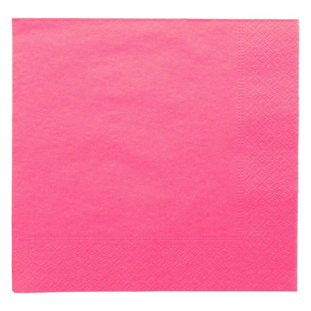 Serviette ouate 2 plis fuchsia avec bord en relief 39x39cm - par 1600