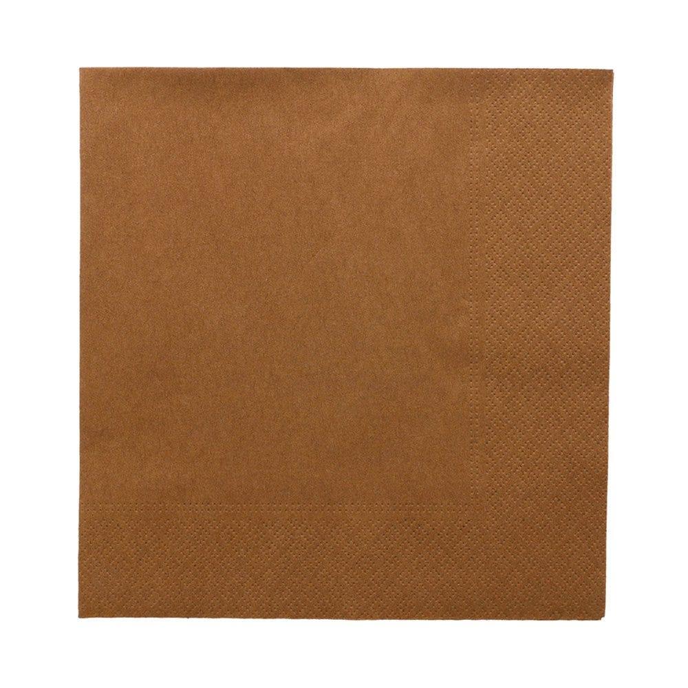 Serviette ouate 2 plis havane avec bord en relief 39x39cm - par 1600