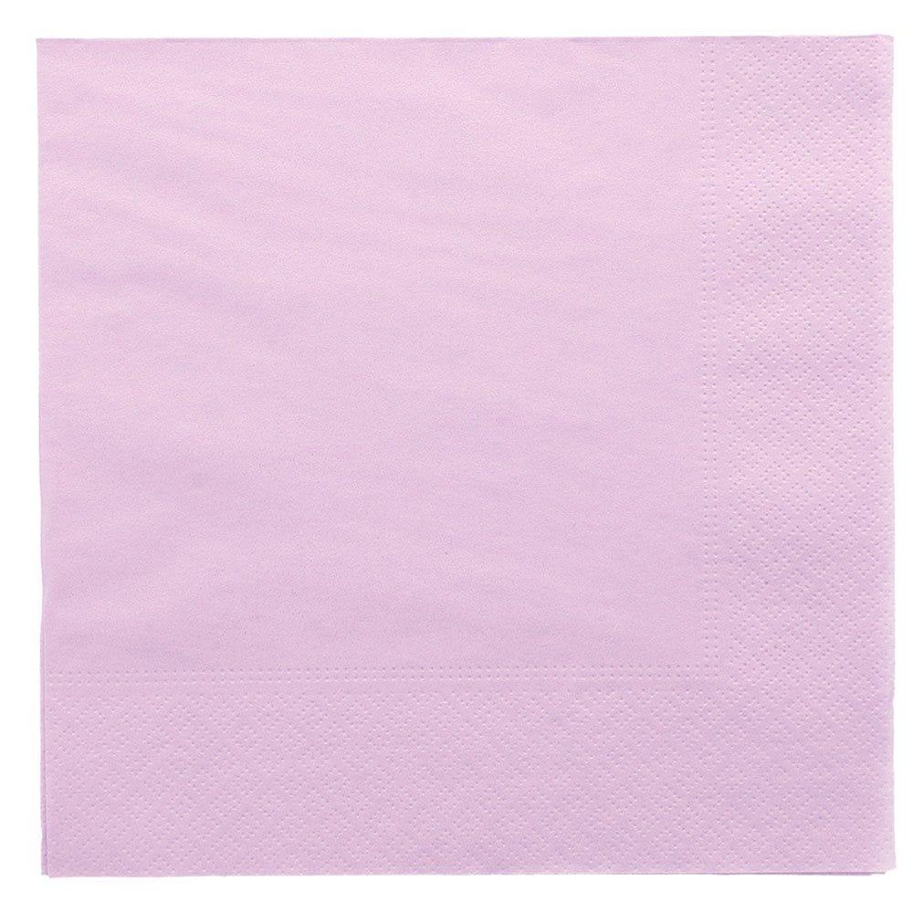 Serviette ouate 2 plis lavande avec bord en relief 39x39cm - par 1600