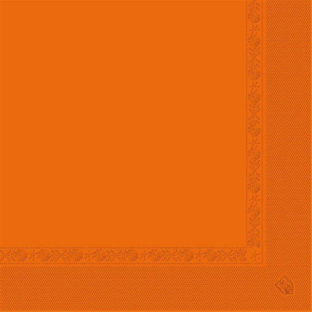 Serviette ouate 2 plis orange avec bord en relief 39x39cm - par 1600