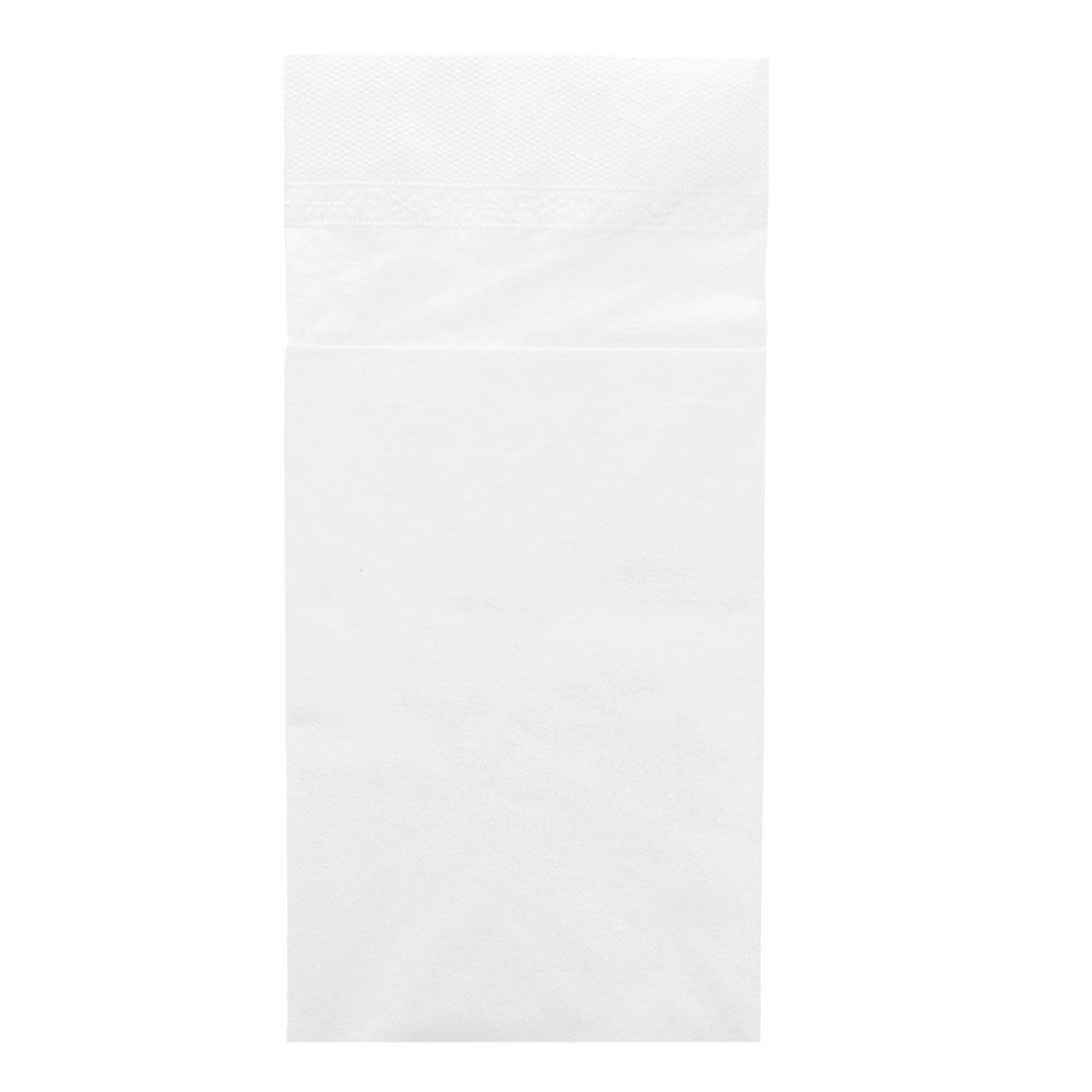 Serviette-étui pour couverts ouate 2 plis blanc 40x40cm - par 1000