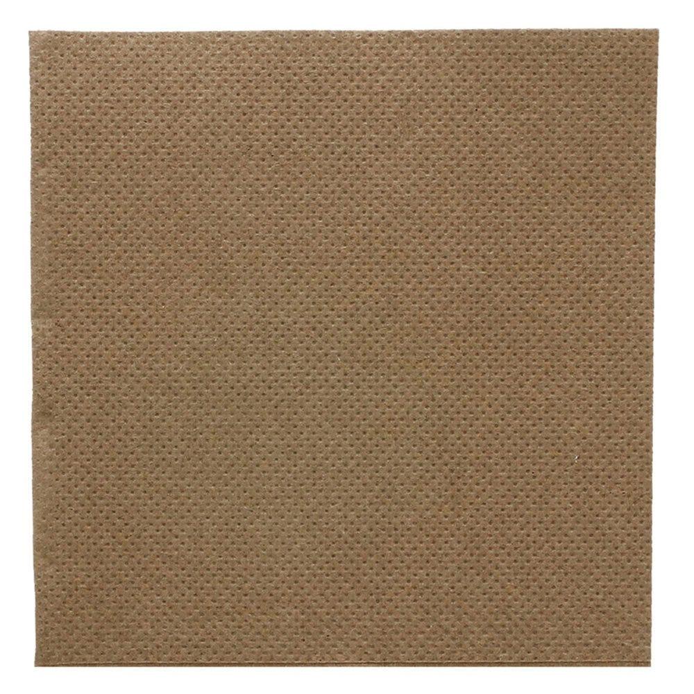 Serviette en ouate gaufré 2 plis chocolat 20x20cm - par 2400