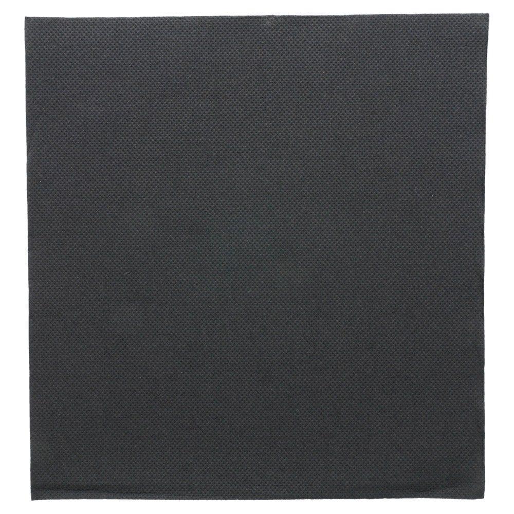 Serviette en ouate gaufré 2 plis noir 39x39cm - par 1200