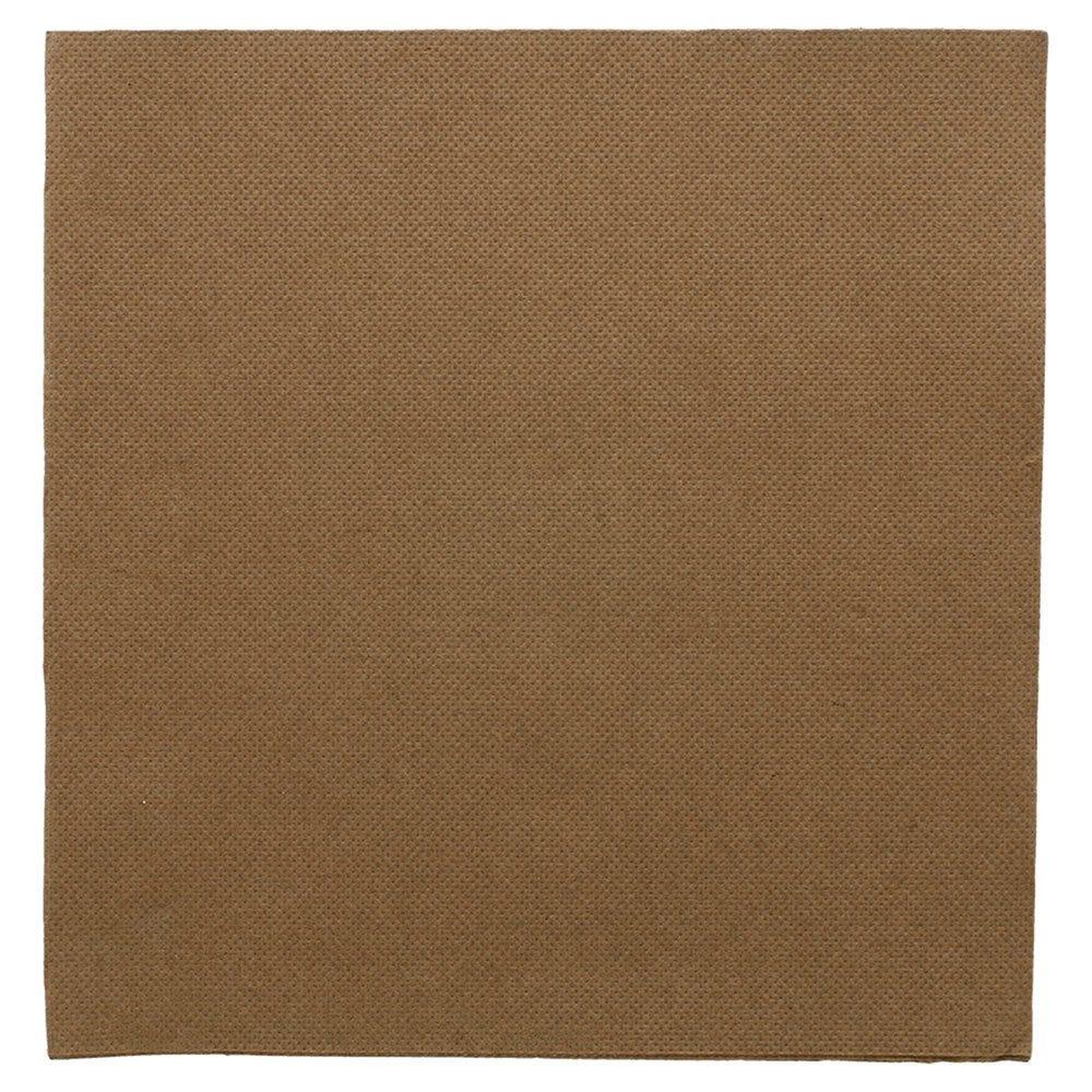 Serviette en ouate gaufré 2 plis chocolat 39x39cm - par 1200
