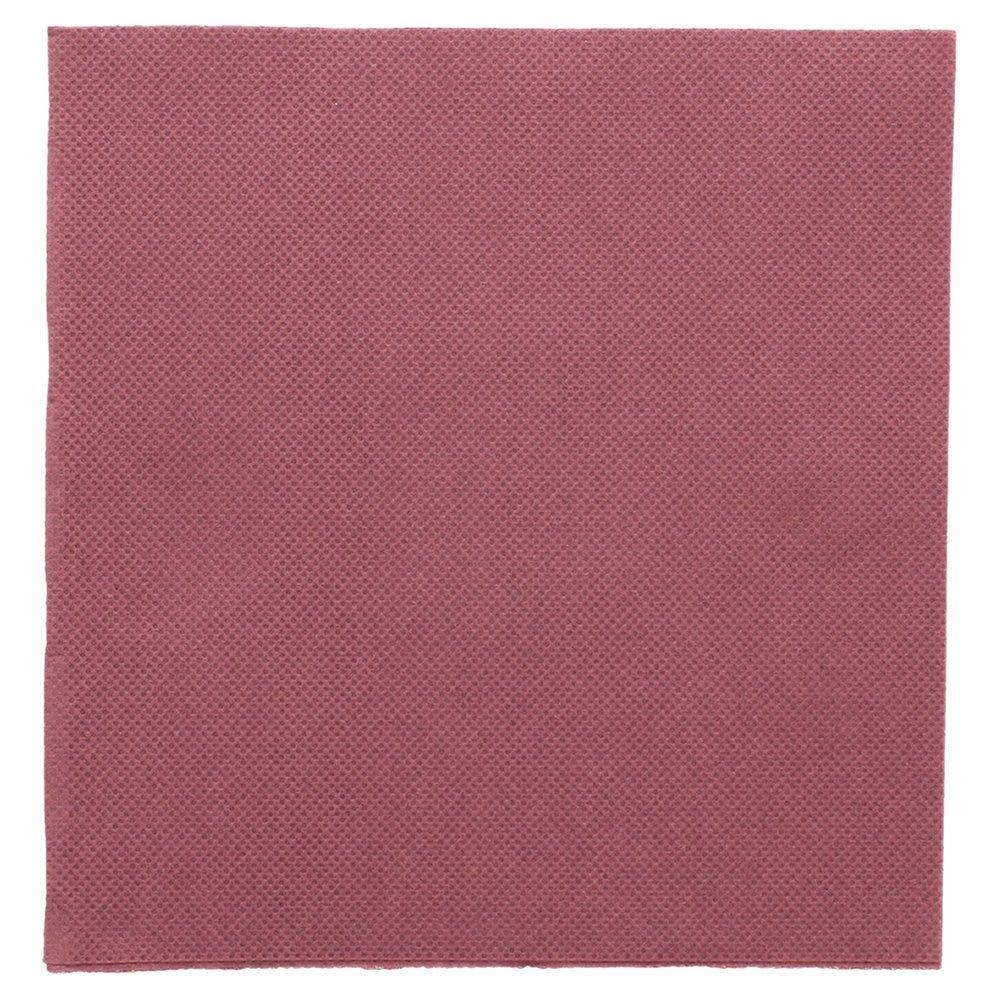 Serviette en ouate gaufré 2 plis prune 33x33cm - par 1200