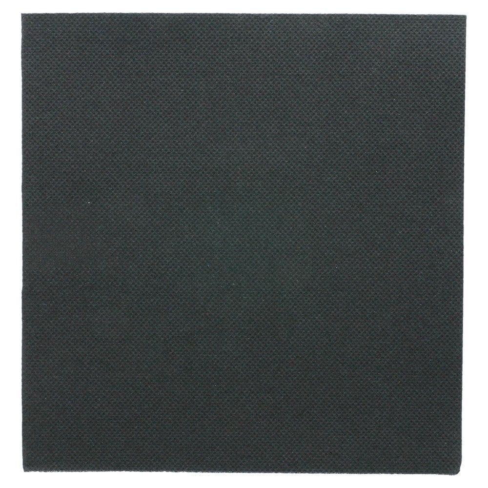Serviette en ouate gaufré 2 plis noir 33x33cm - par 1200
