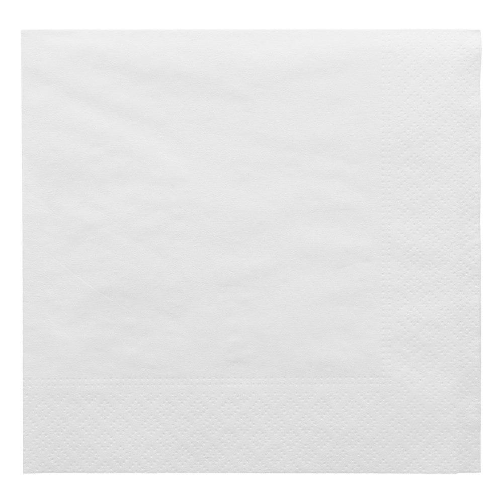 Serviette ouate 2 plis blanc 30x30cm - par 2400