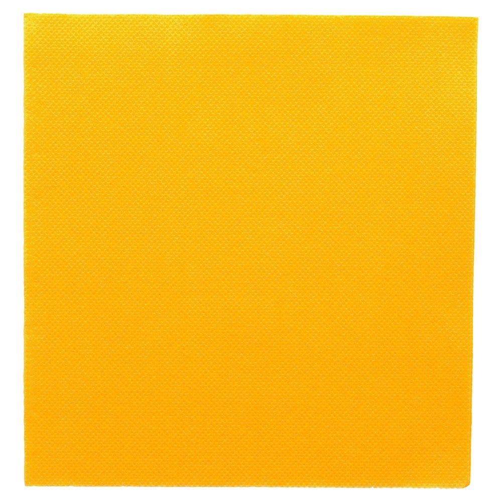 Serviette en ouate gaufré 2 plis jaune 33x33cm - par 1200