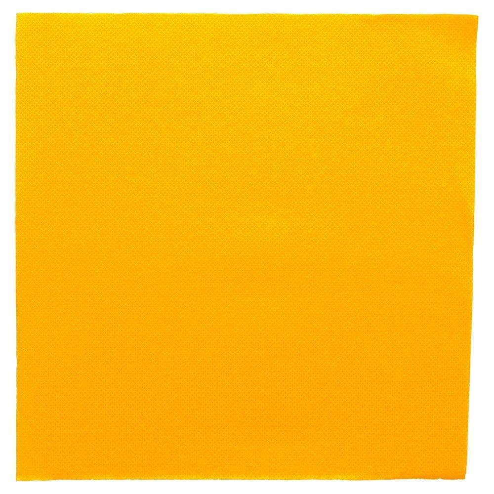 Serviette en ouate gaufré 2 plis jaune 39x39cm - par 1200