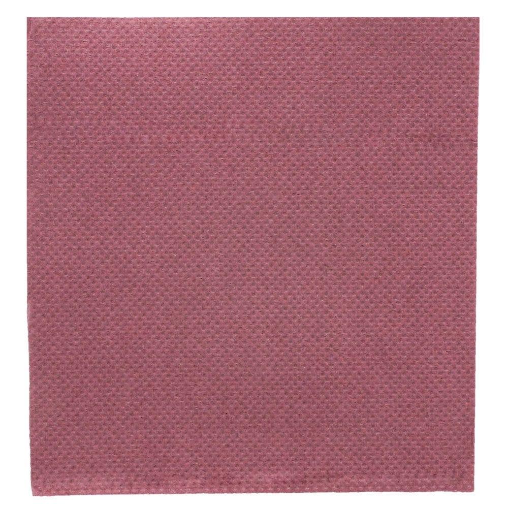 Serviette en ouate gaufré 2 plis prune 20x20cm - par 2400
