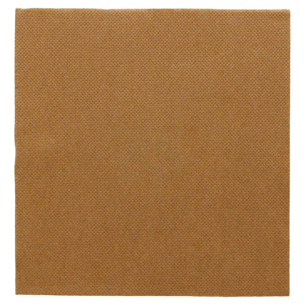 Serviette en ouate gaufré 2 plis havane 33x33cm - par 1200