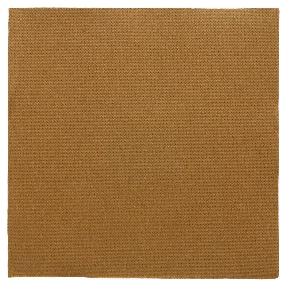 Serviette en ouate gaufré 2 plis havane 39x39cm - par 1200