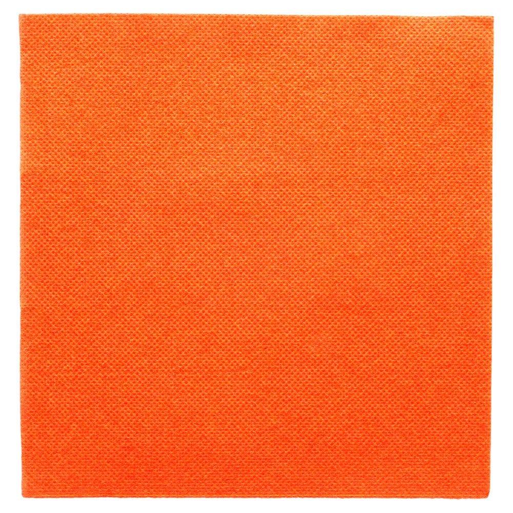 Serviette en ouate gaufré 2 plis orange 33x33cm - par 1200