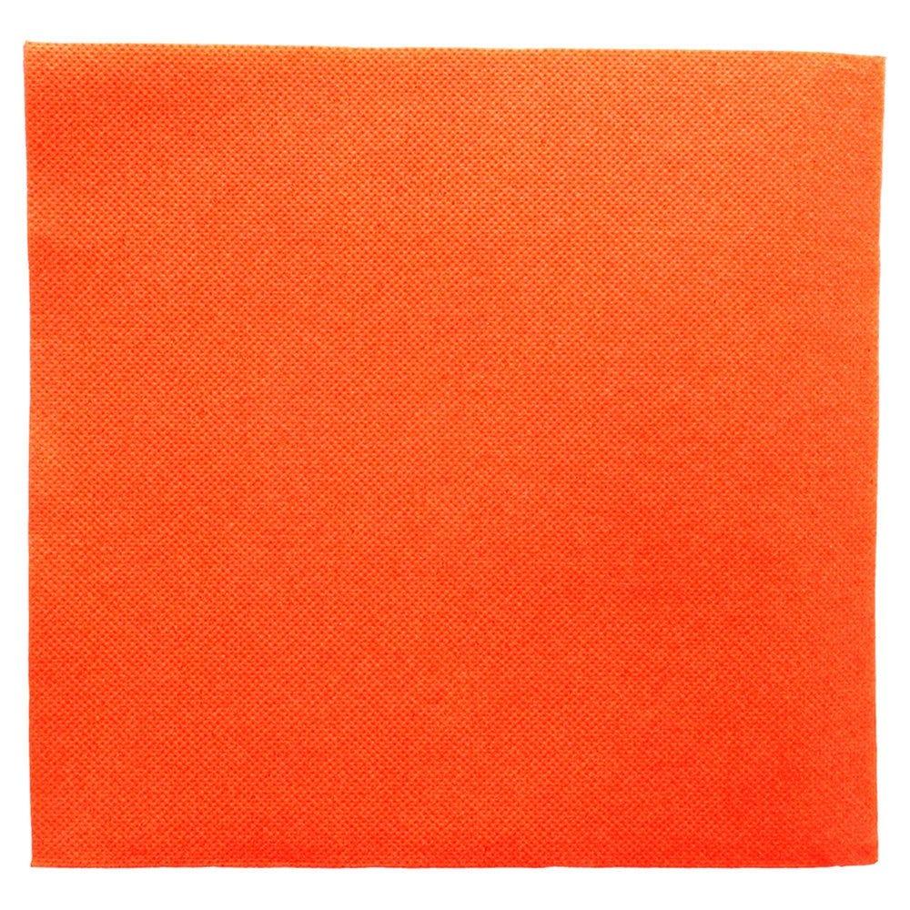 Serviette en ouate gaufré 2 plis orange 39x39cm - par 1200