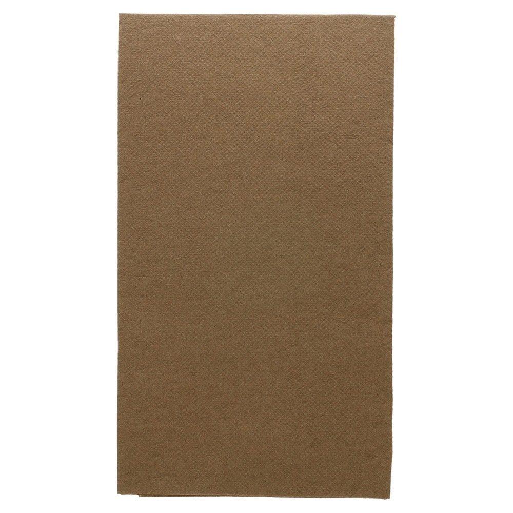 Serviette en ouate gaufré 2 plis chocolat 1/6 33x40cm - par 2000