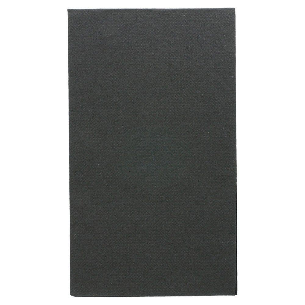 Serviette en ouate gaufré 2 plis noir 1/6 33x40cm - par 2000