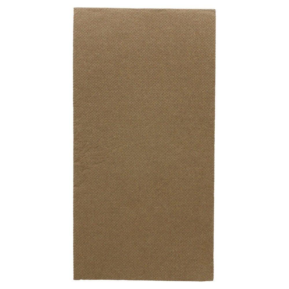 Serviette en ouate gaufré 2 plis chocolat 1/8 40x40cm - par 1300