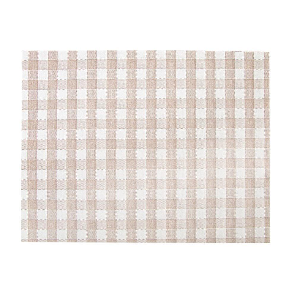 Set de table intissé effet tissu Vichy taupe 30x40cm - par 800