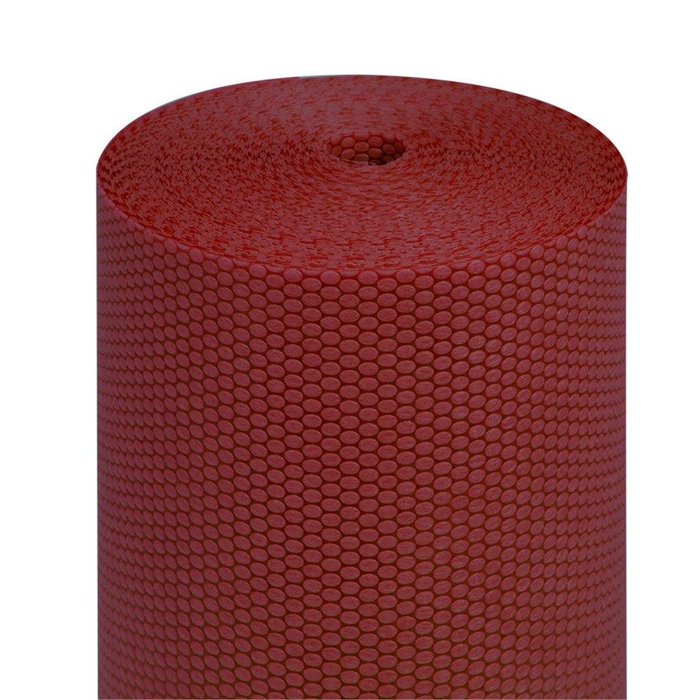 Tête à tête pré-découpé en 120cm polypropylène épais bordeaux 0,40x36m - par 6