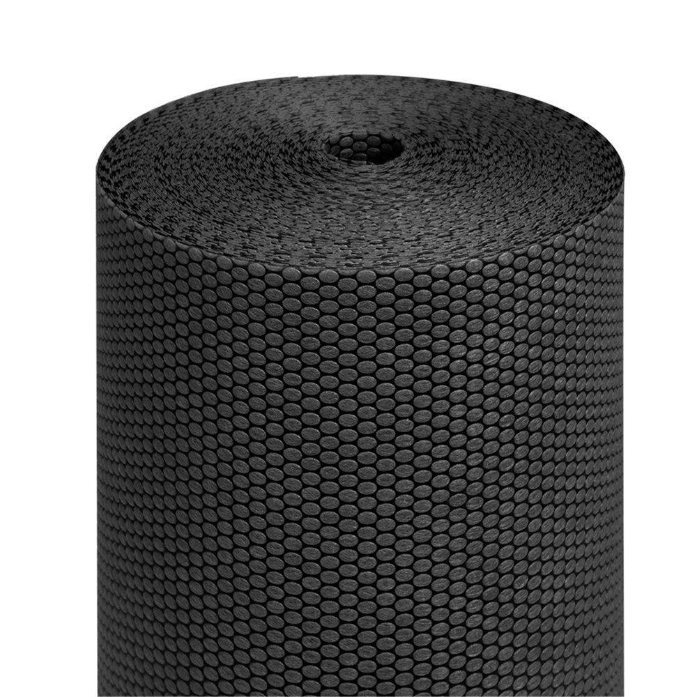Tête à tête pré-découpé en 120cm polypropylène épais noir 0,40x36m - par 6