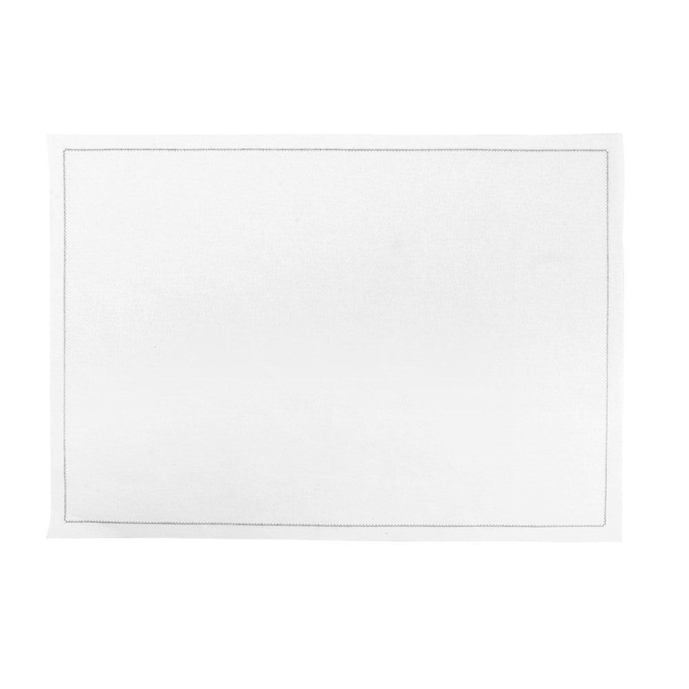 Set de table en coton blanc 45x32cm - par 100