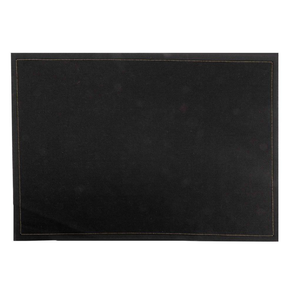 Set de table en coton noir 45x32cm - par 100