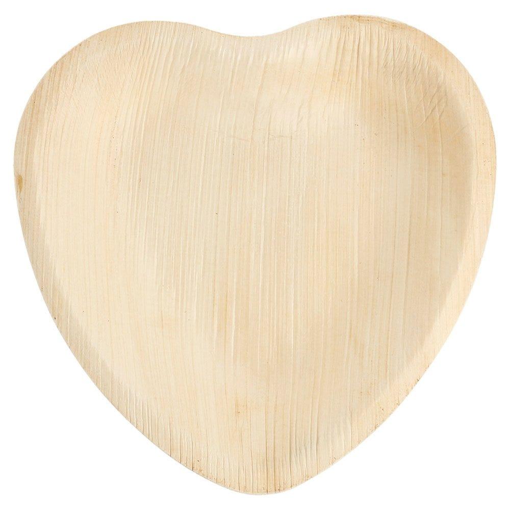 Assiette coeur feuille de palmier 16,5x16,5x2,5cm - par 200