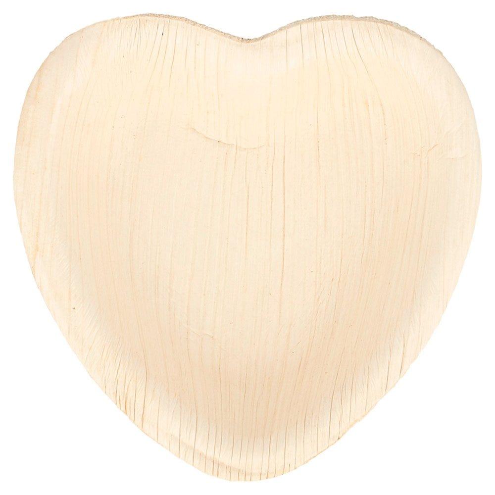 Assiette coeur feuille de palmier 10x10x1,5cm - par 200