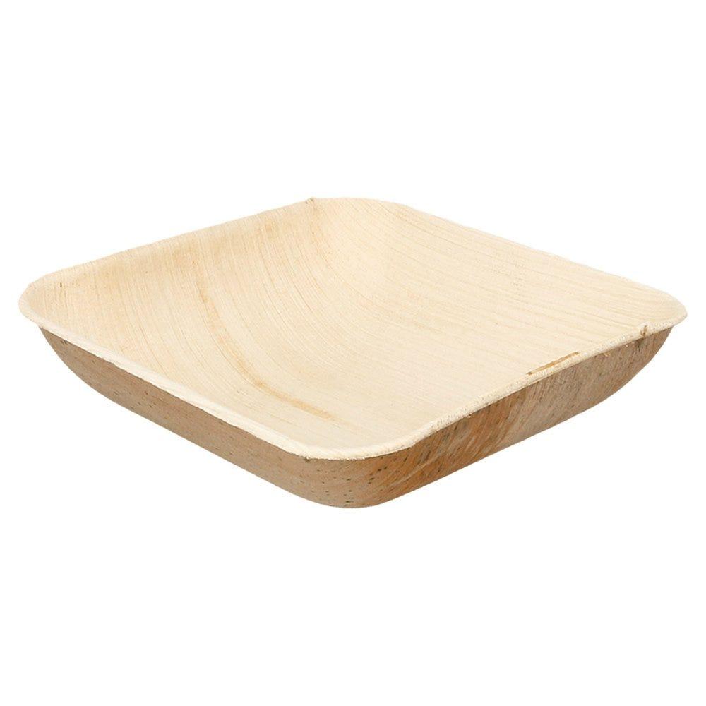Bol carré feuille de palmier 15x15x4cm - par 200
