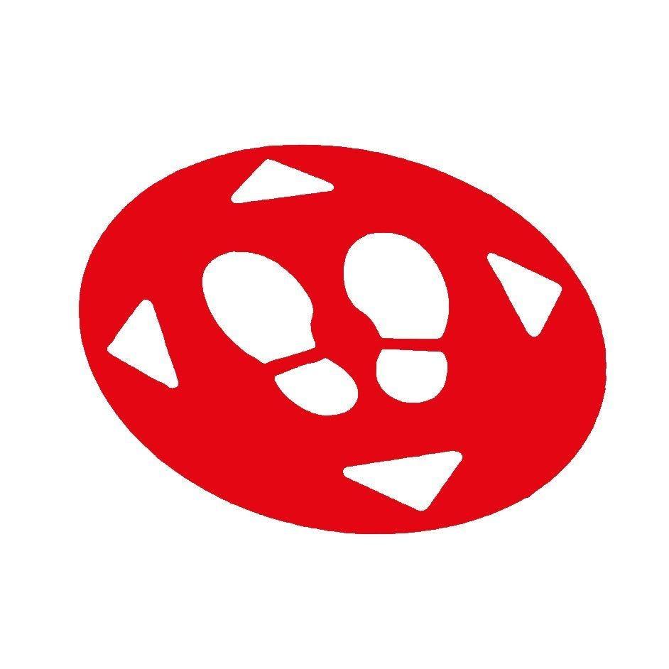 Kit de marquage au sol diamètre 470mm rouge ultra résistant