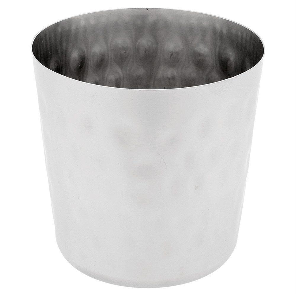 Gobelet à frites effet inox martelé Ø8,5x8,5cm - par 12